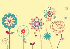 Elementi di disegno floreale Fotografia Stock Libera da Diritti