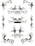 Elementi di disegno floreale dell'annata illustrazione vettoriale