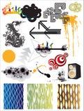 Elementi di disegno grafico Fotografia Stock Libera da Diritti