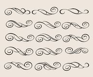 Elementi di disegno Illustrazione decorativa Vettore Beige nero Fotografie Stock