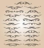 Elementi di disegno stabilito Illustrazione di vettore Beige nero Fotografia Stock