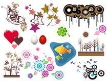 Elementi di disegno, vettore Immagini Stock Libere da Diritti