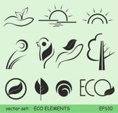 Elementi di Eco Fotografie Stock