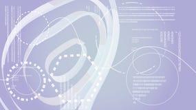 Elementi di esposizione digitali di HUD di tecnologia energetica moderna astratta grigia bianca da una struttura circolare futura illustrazione vettoriale
