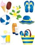 Elementi di estate e di vacanza Immagine Stock Libera da Diritti