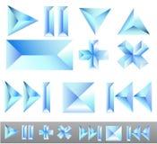 Elementi di ghiaccio Fotografia Stock