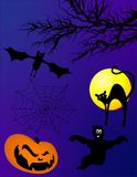 Elementi di Halloween Fotografia Stock