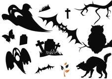 Elementi di Halloween Fotografia Stock Libera da Diritti