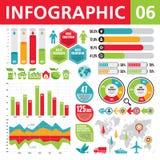 Elementi 06 di Infographic Immagini Stock