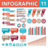 Elementi 11 di Infographic Fotografia Stock