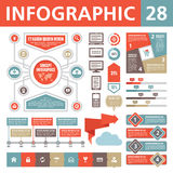 Elementi 28 di Infographic Fotografia Stock Libera da Diritti