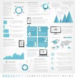 Elementi di Infographic dell'industria delle tecnologie dell'informazione Immagini Stock