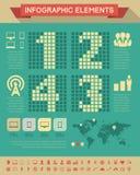Elementi di Infographic dell'industria delle tecnologie dell'informazione Fotografia Stock