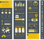 Elementi di Infographic dell'industria delle tecnologie dell'informazione Immagine Stock Libera da Diritti