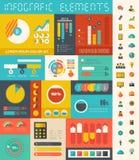 Elementi di Infographic dell'industria delle tecnologie dell'informazione Fotografia Stock Libera da Diritti