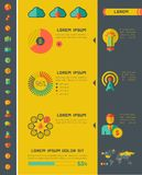 Elementi di Infographic dell'industria delle tecnologie dell'informazione Fotografie Stock
