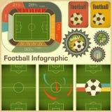 Elementi di Infographic di gioco del calcio Fotografie Stock