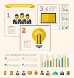 Elementi di Infographic di tecnologia Fotografie Stock Libere da Diritti