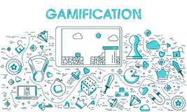 Elementi di Infographic per Gamification royalty illustrazione gratis
