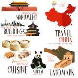 Elementi di Infographic per il viaggio in Cina royalty illustrazione gratis