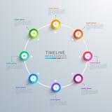 Elementi di Infographic per il vostro affare Fotografia Stock