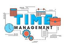 Elementi di Infographic per la gestione di tempo Immagini Stock Libere da Diritti