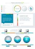 Elementi di Infographics Fotografia Stock