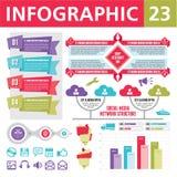 Elementi 23 di Infographics Fotografie Stock Libere da Diritti