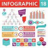 Elementi 18 di Infographics Fotografia Stock