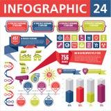 Elementi 24 di Infographics Fotografia Stock