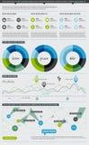 Elementi di Infographics con i tasti Immagine Stock Libera da Diritti