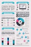 Elementi di Infographics con i tasti Fotografia Stock Libera da Diritti