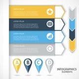 Elementi di infographics della raccolta Frecce variopinte Fotografia Stock