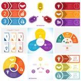 Elementi di Infographics delle collezioni Posizioni del modello 3 illustrazione di stock