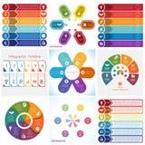 Elementi di Infographics delle collezioni Posizioni del modello 6 royalty illustrazione gratis