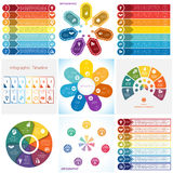 Elementi di Infographics delle collezioni Posizioni del modello 7 royalty illustrazione gratis