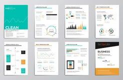 Elementi di infographics di affari per gli opuscoli corporativi royalty illustrazione gratis