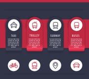 Elementi di infographics di trasporto della città Fotografia Stock