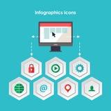 Elementi di Infographics nello stile di progettazione moderna Fotografia Stock