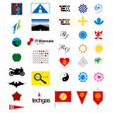 Elementi di logo Fotografie Stock Libere da Diritti