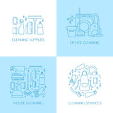 Elementi di logo di pulizia Fotografia Stock