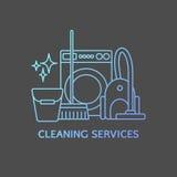 Elementi di logo di pulizia Fotografie Stock