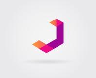Elementi di Logo Letter Icon Design Template nel vettore Fotografie Stock Libere da Diritti