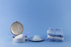 Elementi di lusso del neonato Immagini Stock Libere da Diritti