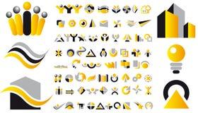 Elementi di marchio e di disegno di vettore Fotografia Stock