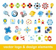 Elementi di marchio e di disegno di vettore Immagini Stock