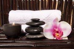 Elementi di massaggio di Bodycare Fotografie Stock Libere da Diritti
