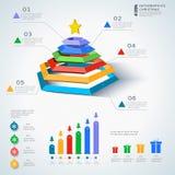 Elementi di natale di Infographic Fotografia Stock