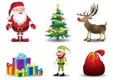 Elementi di Natale - illustrazione Fotografie Stock Libere da Diritti
