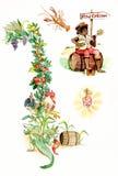 Elementi di New Orleans illustrazione di stock